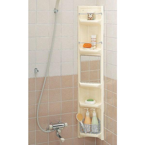 企業様限定商品 LIXIL(INAX) 浴室収納棚 鏡付(隅付) YR-221G/L11