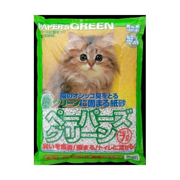 【あわせ買い1999円以上で送料無料】新東北化学工業 猫砂 ペーパーズグリーン 7L