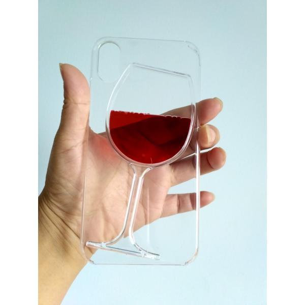 iPhone ケース 7Plus iPhone ケース 8Plus iPhone ケース X iphone カバー 赤ワイン 薄型軽量 透明 クリア ジャケット|homekitchenonline|02