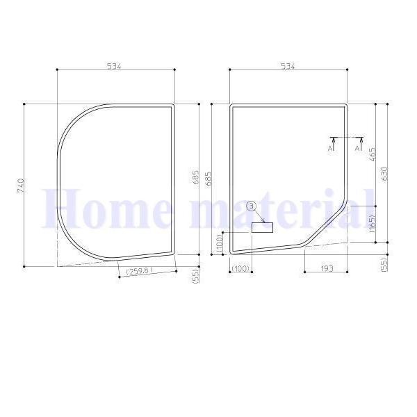 お風呂のふた TOTO 風呂ふた 組みふた バスルーム 新築マンション用 RD ラウンド浴槽 1100用 割フタ(断熱材なし仕様)EKK80056W(L/R) 1