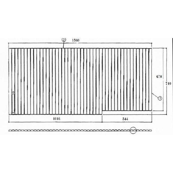 お風呂のふた TOTO 風呂ふた シャッター式 巻きふた EKK81045WR ( 代替品EKK81045WR3) 外寸:1560×710 トト