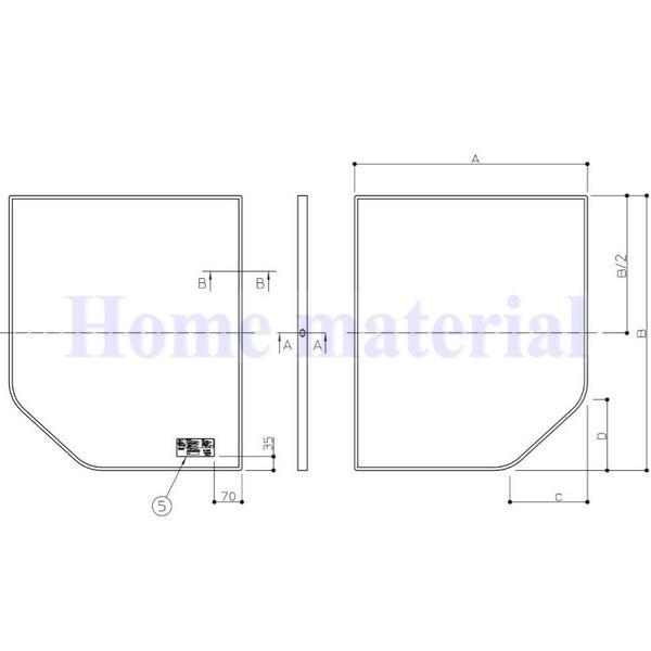 〇お風呂のふた TOTO 風呂ふた 組み合わせ式 組みふた 断熱風呂蓋 AFKK84129W 695×1280