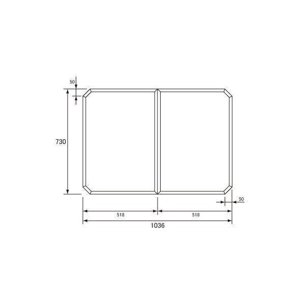 送料無料 お風呂のふた パナソニック (松下電工 ナショナル) 組みふた 風呂ふた GZ945C (GZ945の代替品) 730×1036mm