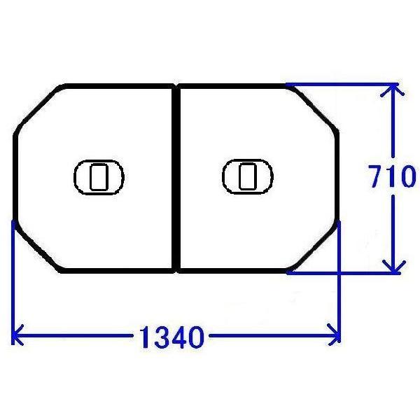 送料無料 お風呂のふた TOTO 風呂ふた 軽量把手付組み合わせ式 組みふた 外寸:1340×710mm PCF1420N#N11 トト