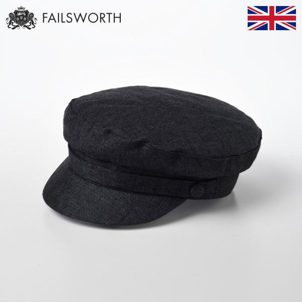 キャスケットメンズキャスケット帽帽子レディース春夏Failsworthアイリッシュリネンマリナー