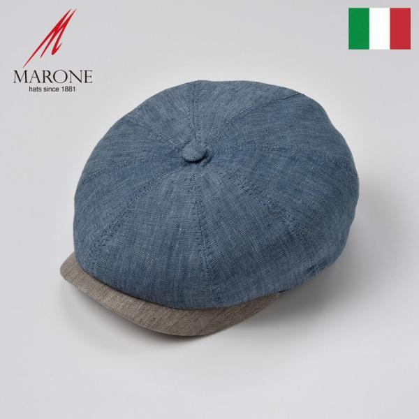 キャスケットメンズレディース春夏帽子イタリア製大きいサイズMARONE(マローネ)ドマーニ