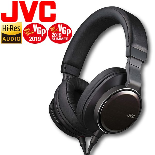 ハイレゾヘッドホン(ヘッドフォン)JVCWOOD01HA-SW01ブラック黒ハイレゾ対応ヘッドホン密閉型オーバーヘッド型折り畳み