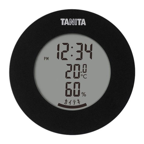 (デジタル温湿度計)TANITA(タニタ) TT585BK ブラック マグネット 丸形 インテリア 雑貨 快適度表示 黒