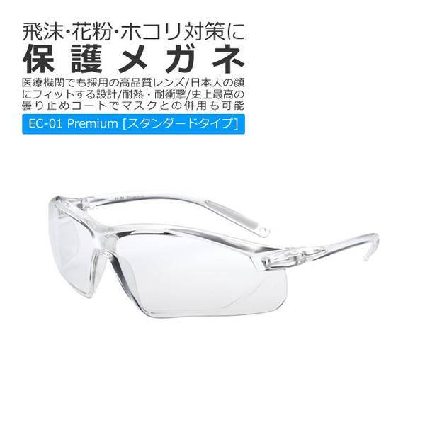保護めがね 医療用 保護メガネ 曇らない エリカオプチカル EC-01 Premium スタンダードタイプ EYECARE GLASS PREMIUM