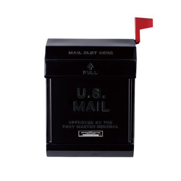 ポスト 壁掛け おしゃれ メールボックス TK-2078 BK ブラック アートワークスタジオ U.S.MAILロゴ入り(ラッピング不可)