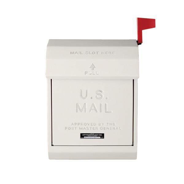 ポスト 壁掛け おしゃれ メールボックス TK-2078 CR クリーム アートワークスタジオ U.S.MAILロゴ入り(ラッピング不可)