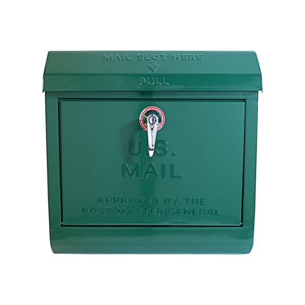 ポスト 壁掛け おしゃれ メールボックス TK-2075 GN グリーン アートワークスタジオ U.S.MAILロゴ入り(ラッピング不可)