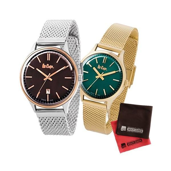 (ペア箱入りセット)(正規輸入品)(リークーパー)Lee Cooper 腕時計 LC6291.540 メンズ・LC6301.270 レディース&クロス2枚(メール便不可)