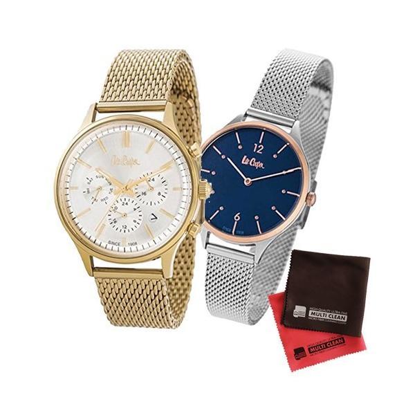 (ペア箱入りセット)(正規輸入品)(リークーパー)Lee Cooper 腕時計 LC6294.130 メンズ・LC6339.590 レディース&クロス2枚(メール便不可)