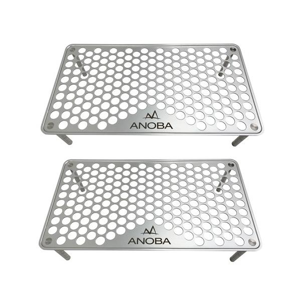 ANOBAアノバULソロテーブルパンチングAN001(収納袋付き)2個セット(アウトドアテーブル)