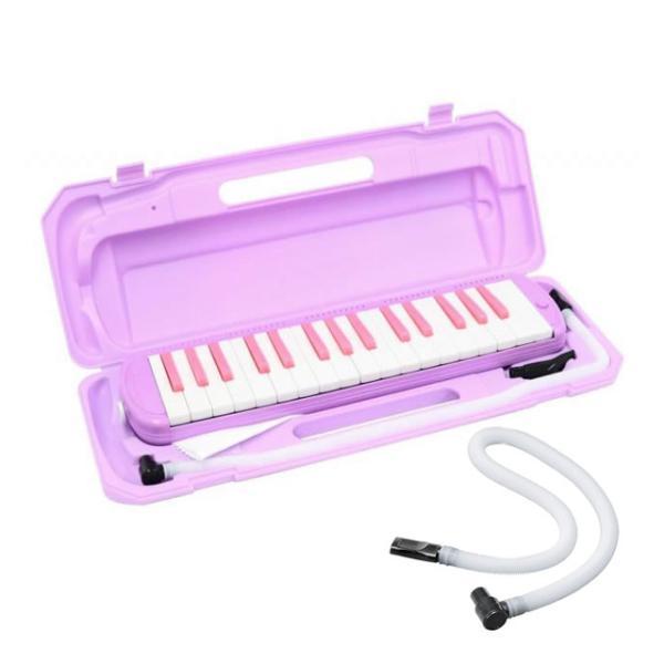 沖縄離島不可 (卓奏用ホースセット) 鍵盤ハーモニカ ピアニカ ケース バッグ キョーリツ P3001-32K LAV ラベンダー (メーカー直送)(ラッピング不可)