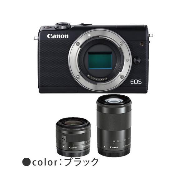 (お買い得セット)キヤノン EOS M100 ダブルズームキット ミラーレスカメラ (カラー選択式)(Canon)(メール便不可)