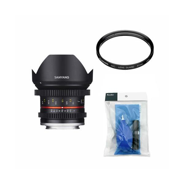 [レンズクリーナーキット&レンズフィルターセット付き]交換レンズ サムヤン 12mm T2.2 マイクロ4/3用 (メール便不可)