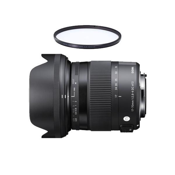シグマ 17-70mm F2.8-4 DC MACRO OS HSM キヤノン用 標準ズームレンズ (レンズ保護フィルター付)(メール便不可)