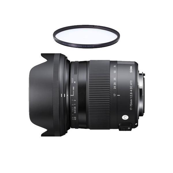 シグマ 17-70mm F2.8-4 DC MACRO HSM ソニー用 (Aマウント用) 標準ズームレンズ (レンズ保護フィルター付)(メール便不可)