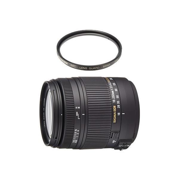 (レンズ保護フィルター付)シグマ 高倍率ズームレンズ 18-250mm F3.5-6.3 DC MACRO OS HSM ニコン用(メール便不可)