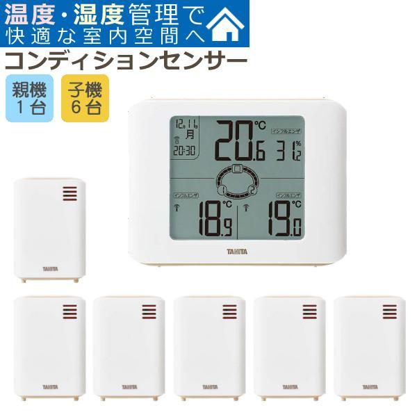 (7ヵ所の温度・湿度がわかるセット)タニタ TANITA 無線温湿度計 TC-400 コンディションセンサー&増設用子機 TC-OP01×4台