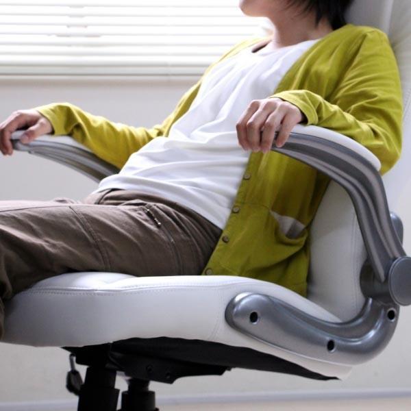 パソコンチェア パソコンチェアー オフィスチェア オフィスチェアー 動く肘掛とロッキング機能付き 立体クッション ハイバック おすすめ|homestyle|02