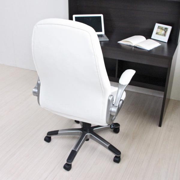 パソコンチェア パソコンチェアー オフィスチェア オフィスチェアー 動く肘掛とロッキング機能付き 立体クッション ハイバック おすすめ|homestyle|05