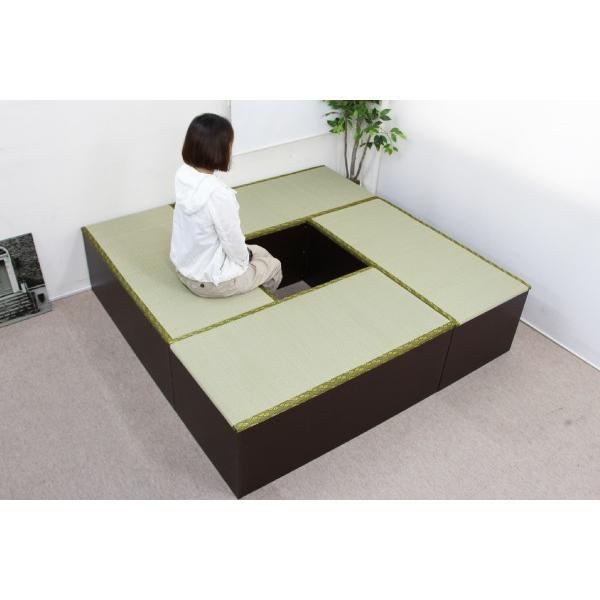 ユニット畳 1畳 4本セット 収納ケース 高床 置き畳 ユニットボックス ハイタイプ|homestyle|03