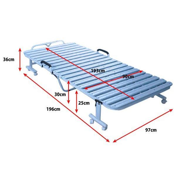 折りたたみ樹脂すのこベッド 抗菌 スノコベッド コンパクト  通気性抜群|homestyle|03