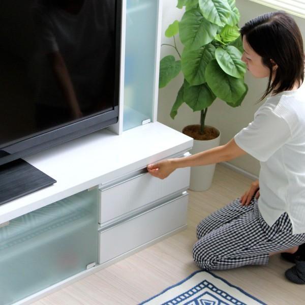 テレビ台 ハイタイプ 鏡面 60インチ TV台 テレビラック ゲート型AVボード ホワイト|homestyle|16
