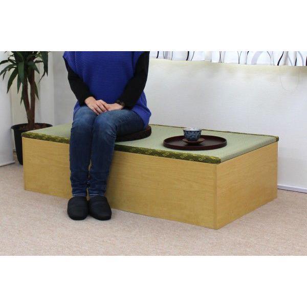 畳ベッド ユニット畳 1.5畳 2本+1畳セット  ナチュラル システム畳|homestyle|05