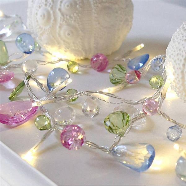 LEDストリングライト イルミネーションライト 電池式 結婚式 パーティーデコレーション 家庭用 誕生日フェスティバル LED装飾
