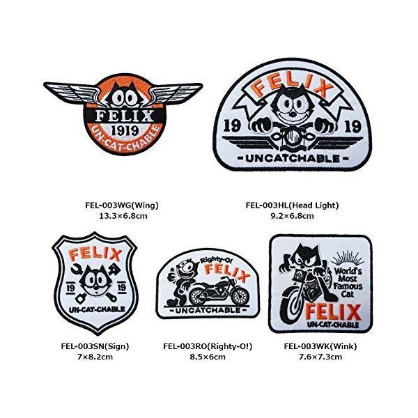 フィリックス(FELIX) UN-CAT-CHABLEシリーズ ワッペン パッチ Felix Custom Patches Righty-O! FEL|homeyayafutenn|02