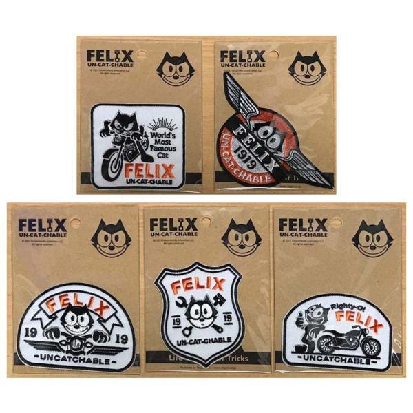 フィリックス(FELIX) UN-CAT-CHABLEシリーズ ワッペン パッチ Felix Custom Patches Righty-O! FEL|homeyayafutenn|03