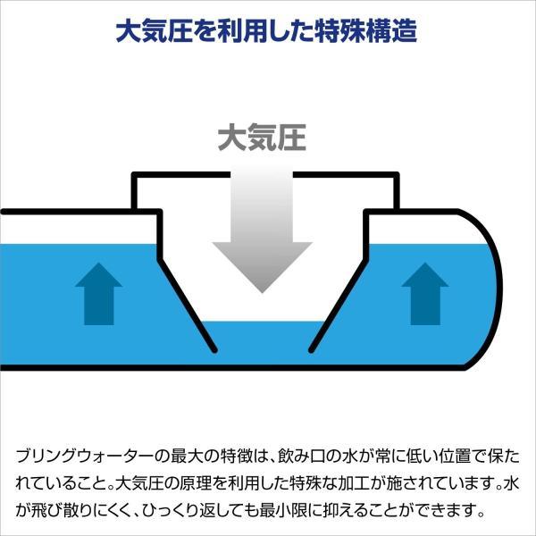 ブリングウォーター 2 ブルー 給水器 水入れ 活性炭フィルター付き 新タイプ 取っ手付き 日本製 大気圧 2L MADE IN JAPAN|homeyayafutenn|03
