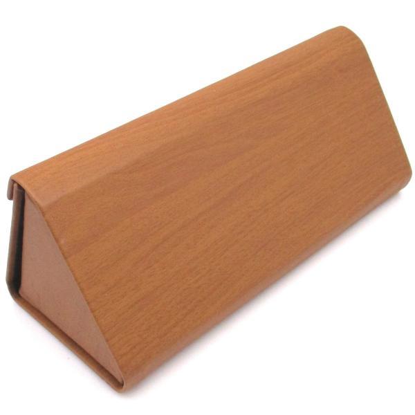 三角 折りたたみ メガネ ケース シンプル 収納 便利 コンパクト (木目調 ブラウン)|homeyayafutenn|05