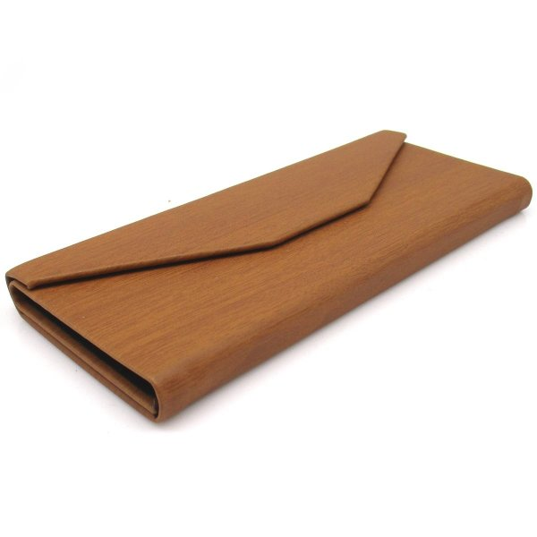 三角 折りたたみ メガネ ケース シンプル 収納 便利 コンパクト (木目調 ブラウン)|homeyayafutenn|06