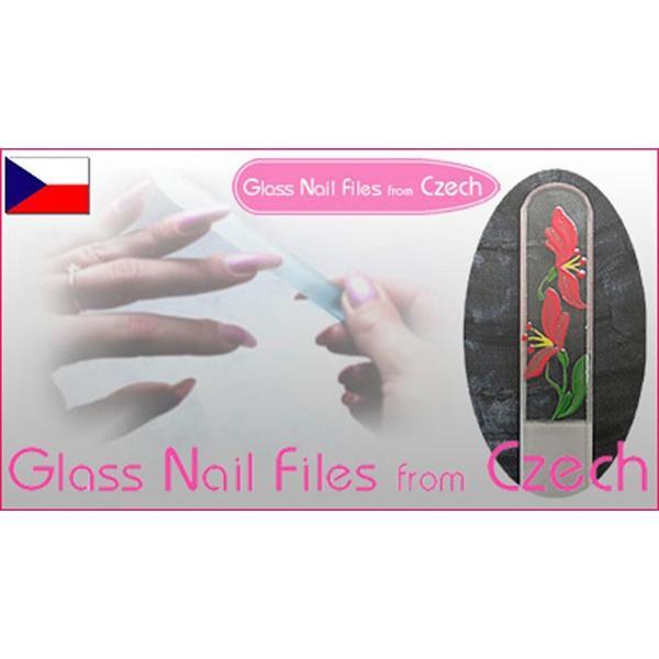 チェコ の職人が仕上げた ガラス製 爪やすり 90mm 両面タイプ ピンク  (透明ソフトケース入り)|homeyayafutenn|05