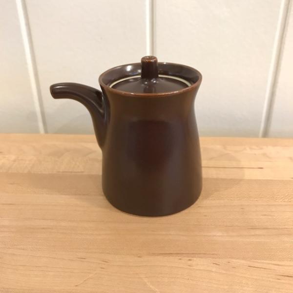 白山陶器 G型しょうゆさし 小 鉄砂(茶) homeyroomstyle