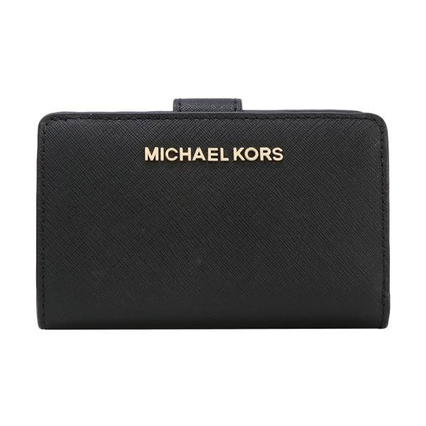 huge discount b4d37 64ebf 【ポイント2倍】マイケルコース MICHAEL KORS 財布 二つ折り財布 35F7GTVF2L BLACK ウォレット アウトレット レディース