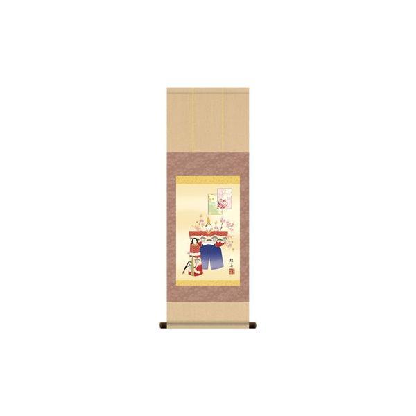 掛軸 掛け軸-立雛/長江桂舟 送料無料掛け軸(尺幅 紙箱)ひな祭り掛軸 和室 床の間 初節句 桃 雛祭り 飾り お雛様 女の子 モダン オシャレ ギフト