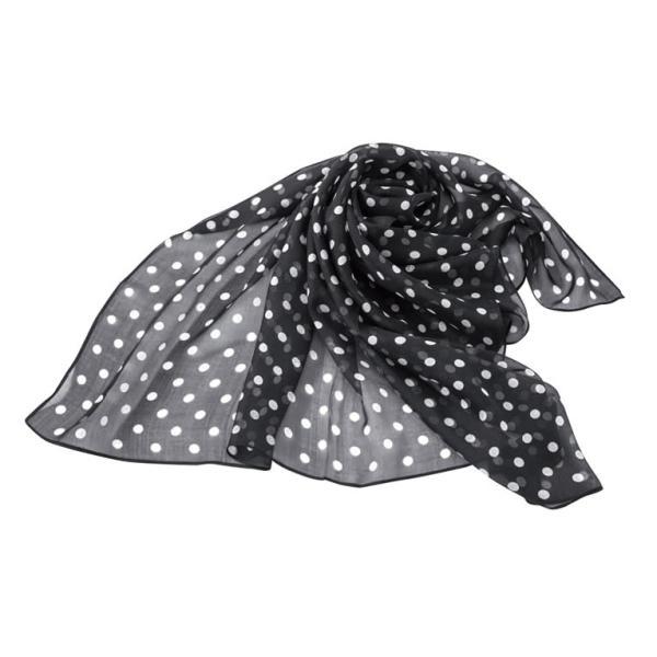 シルクのスカーフ(ドット柄)|honaminoie