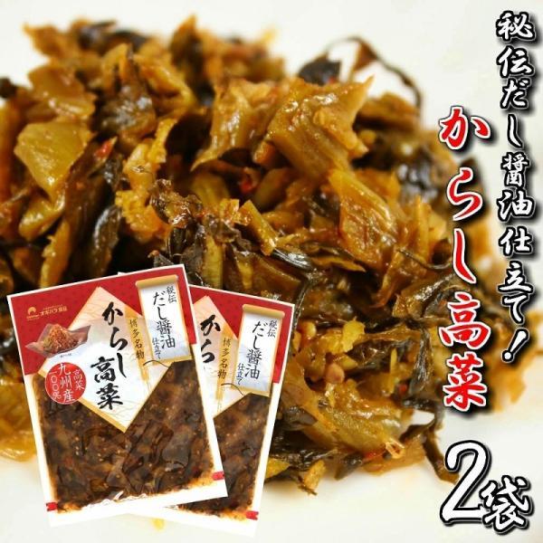 九州産 博多辛子高菜 会員限定555円 だし醤油仕立て からし高菜 たっぷり150g×2袋セット 特産品 ご飯 ラーメン 炒飯 お試しグルメギフト