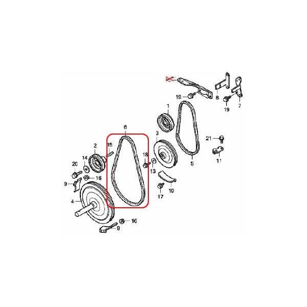 ホンダ除雪機純正パーツ オーガベルト Vベルト 対応機種HS660、HS760、HS870、HS970、HS1170、HS1075Z 【品番22432-V03-000】|honda-walk|02