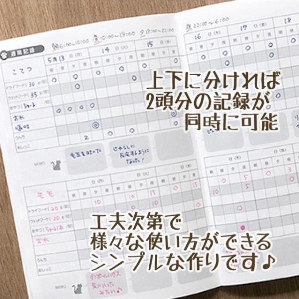 ペット 健康 管理 手帳 猫用 『にゃるすケアノート 猫ちゃん専用の健康手帳 A5』 hondaliving 05