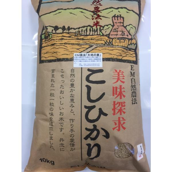 令和3年産 新米 無農薬栽培米 こしひかり 玄米 10kg お米  自然農法  「大地の恵」