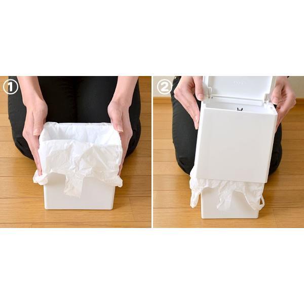 チューブラー ミニフラップ (ふた付き 小型 ゴミ箱 デスク) イデア株式会社|honest|05