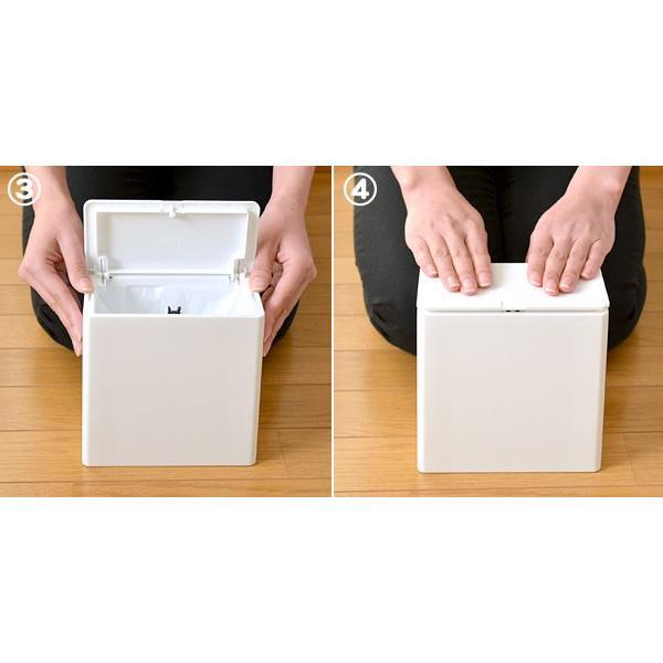 チューブラー ミニフラップ (ふた付き 小型 ゴミ箱 デスク) イデア株式会社|honest|06