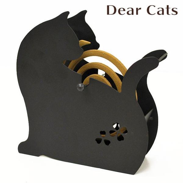 蚊取り線香入れ 蚊取り線香ホルダー 蚊遣り Dear Cats ディアキャッツ 振り返りねこ  蚊遣り器|honest
